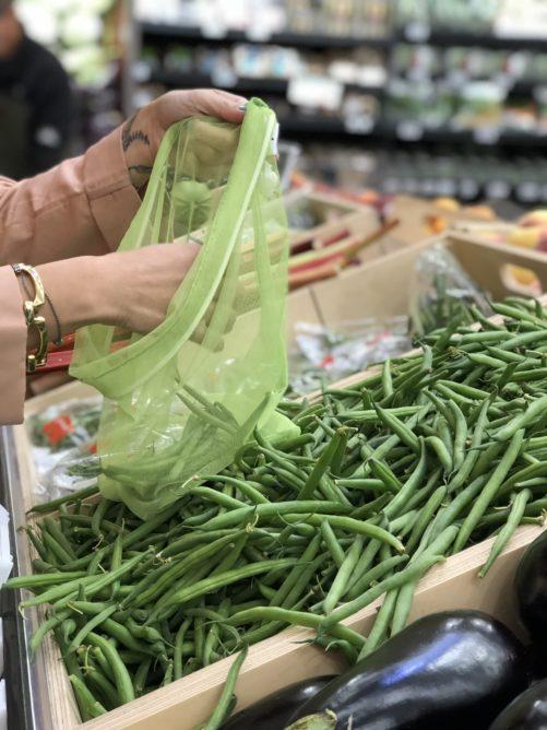 Green Beans Mesh MISA Bag